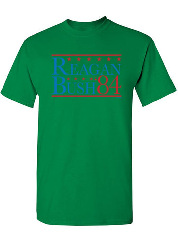 Manateez Unisex Reagan Bush Election 1984 Tee Shirt