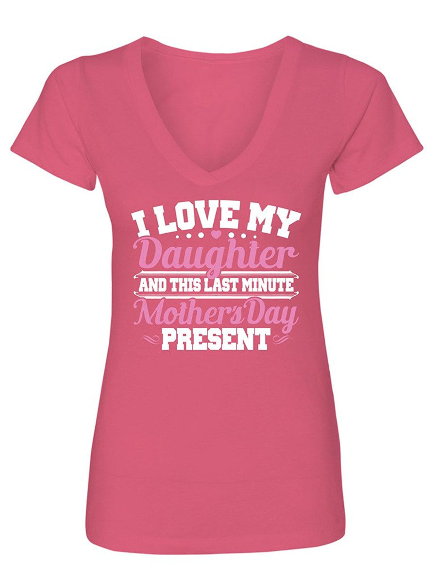 Manateez Women's Mother's Day Last Minute Gift from Daughter V-Neck