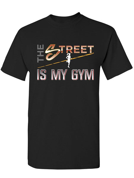 Manateez Women's The Street is My Gym Runner Tee Shirt