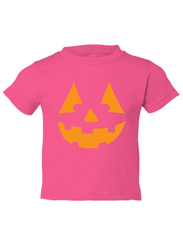 Manateez Toddler Orange Jack O Lantern Tee Shirt