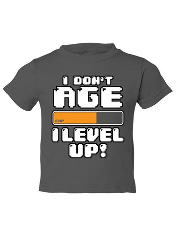 Manateez Toddler Video Game I Don't Age I Level Up Tee Shirt