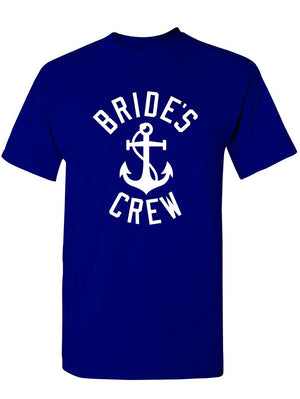 Manateez Men's Nautical Bride's Crew Bachelorette Party Shirt Tee Shirt