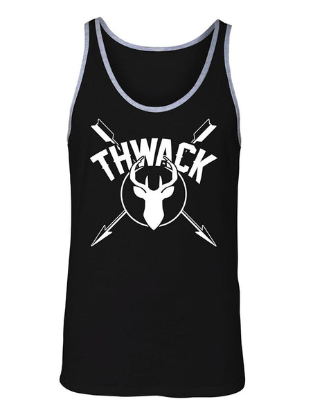 Manateez Men's Thwack Bow Hunting Crossed Arrows Tank Top