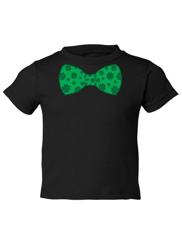 Manateez Toddler St. Patrick's Day Four Leaf Clover Bowtie Tee Shirt