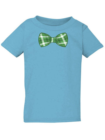 Manateez Infant's St. Patrick's Day Green Plaid Bowtie Tee Shirt