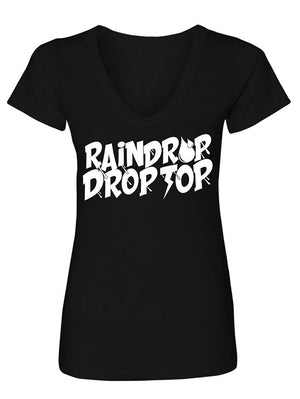 Manateez Women's Rain Drop Drop Top V-Neck