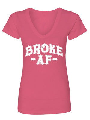 Manateez Women's I'm Poor Broke AF V-Neck