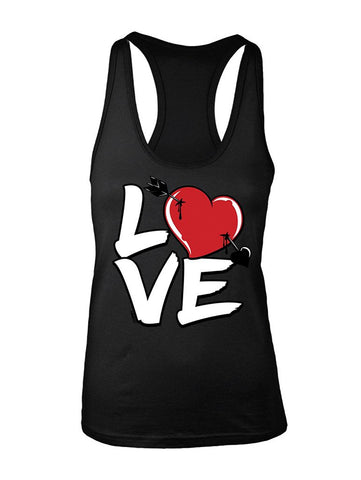 Manateez Women's Love Cupid's Arrow to the Heart Valentine's Day Racer Back