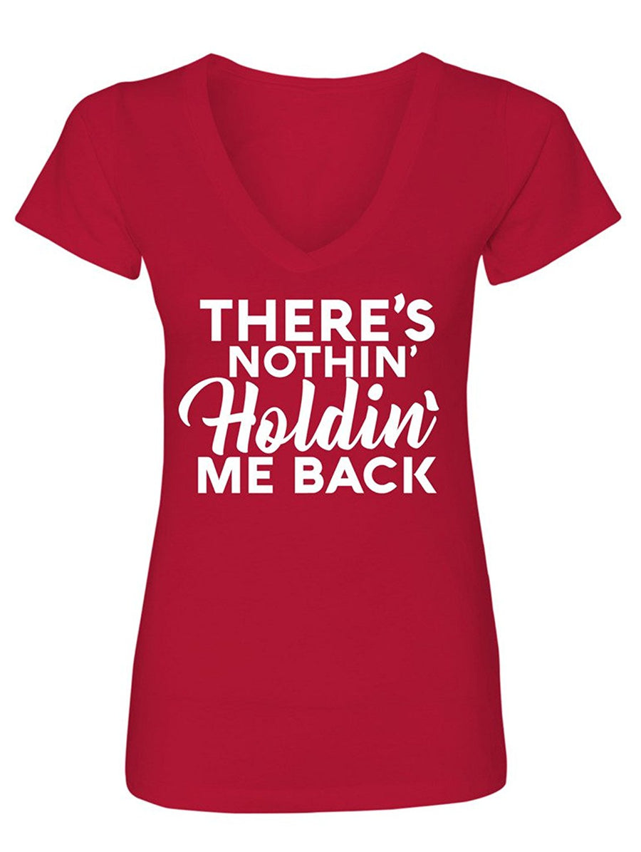 Manateez Women's There's Nothing Holding Me Back V-Neck