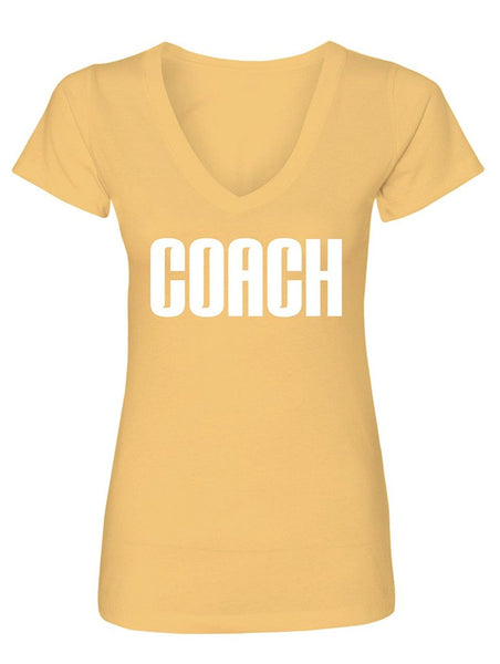 Manateez Women's Official Coach Design V-Neck Shirt