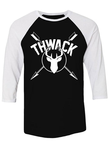 Manateez Thwack Bow Hunting Crossed Arrows Raglan