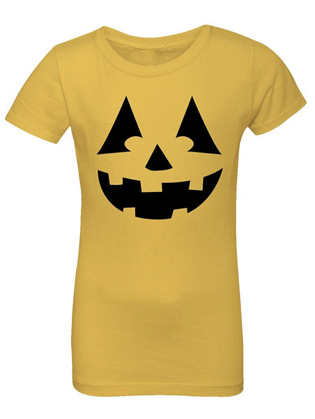 Manateez Girls Black Jack O Lantern Tee Shirt