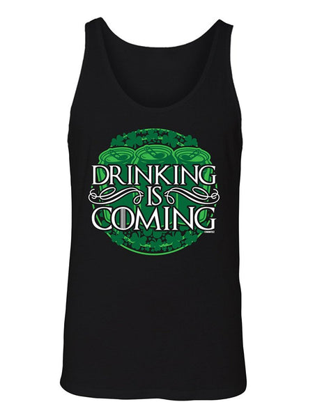 Manateez Men's St. Patrick's Day Drinking is Coming Tank Top