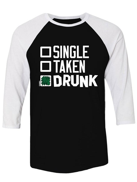 Manateez St. Patrick's Day Drinking Checklist Raglan Large Black/White