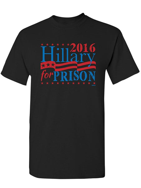 Manateez Unisex Election 2016 Hillary for Prison Tee Shirt