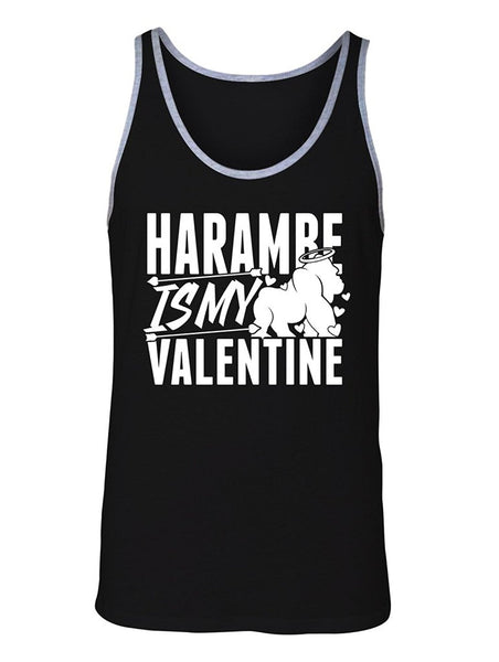 Manateez Men's Harambe Is My Valentine Valentine's Day Tank Top
