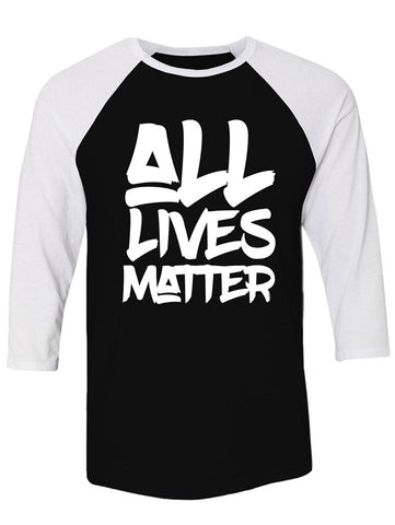Manateez All Lives Matter Raglan Tee Shirt