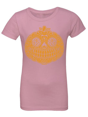 Manateez Girls Candy Pumpkin Jackolantern Tee Shirt