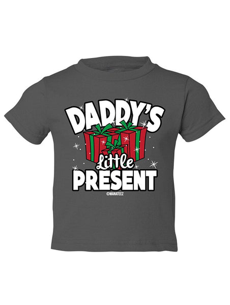 Manateez Toddler Daddy's Little Present Tee Shirt