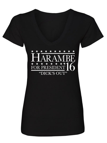 Manateez Women's Harambe for President '16 V-Neck