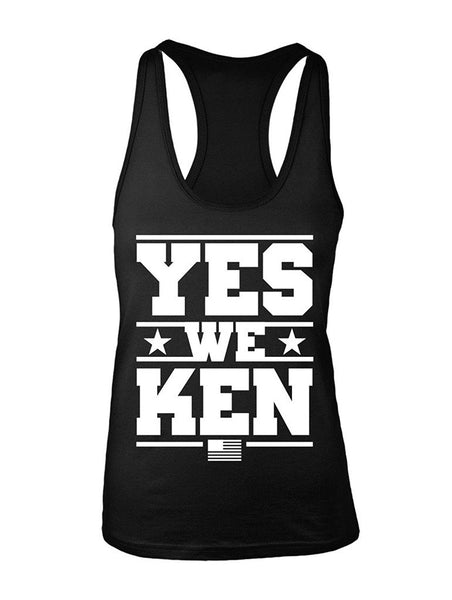 Manateez Women's Ken Bone Yes We Ken Election 2016 Racer Back Tank Top