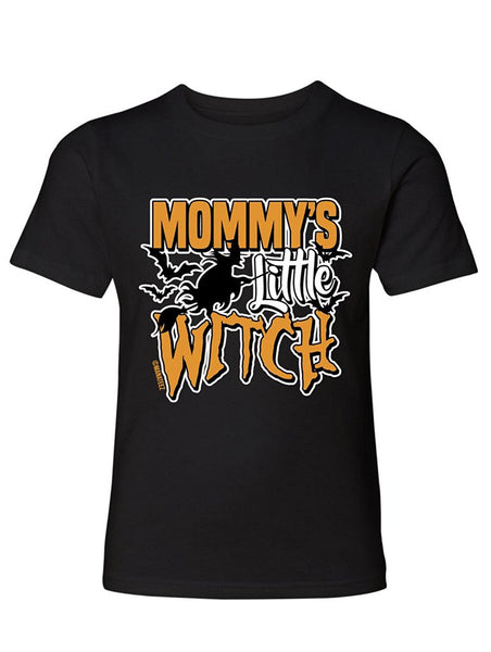 Manateez Boys Mommy's Little Witch Tee Shirt Large Black