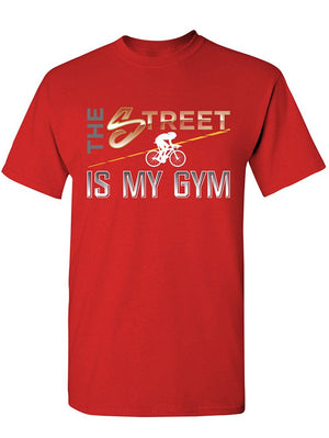 Manateez Men's The Street is My Gym Cyclist Tee Shirt
