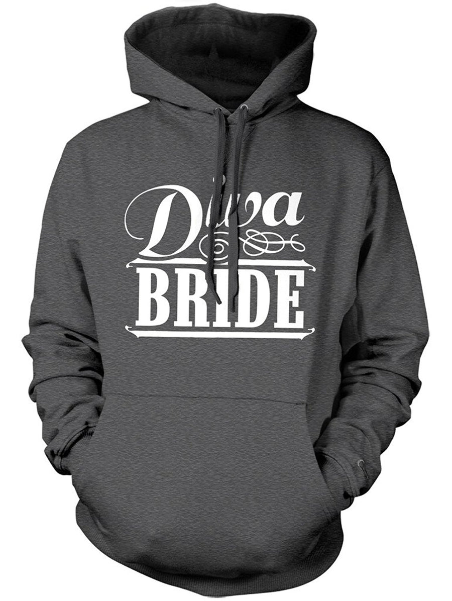Manateez Women's Diva Bride Bachelorette Party Hoodie