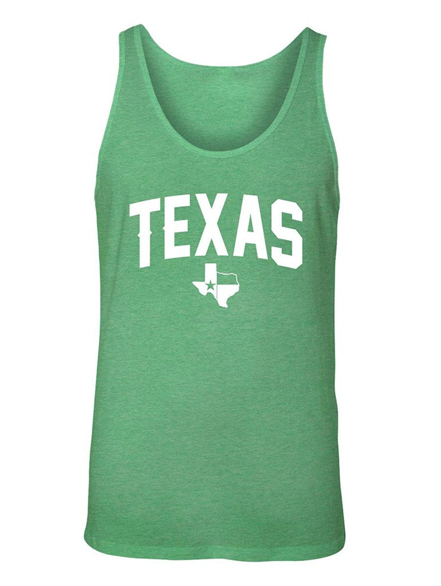 Manateez Men's Texas State Shape Flag Logo Tank Top