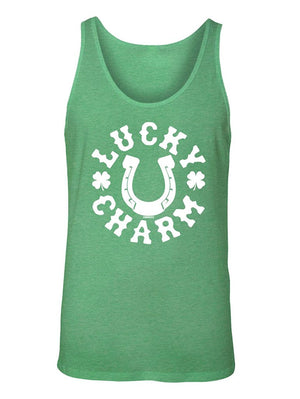 Manateez Men's St. Patrick's Day Lucky Charm Tank Top