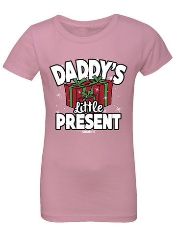 Manateez Girl's Daddy's Little Present Tee Shirt