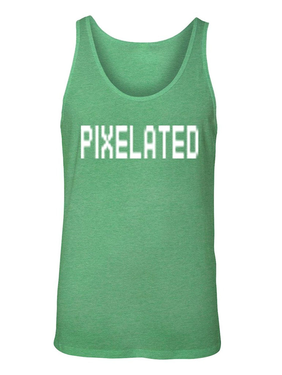 Manateez Men's It's Unclear Pixelated Graphic Tank Top