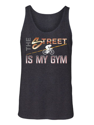 Manateez Men's The Street is My Gym Cyclist Tank Top
