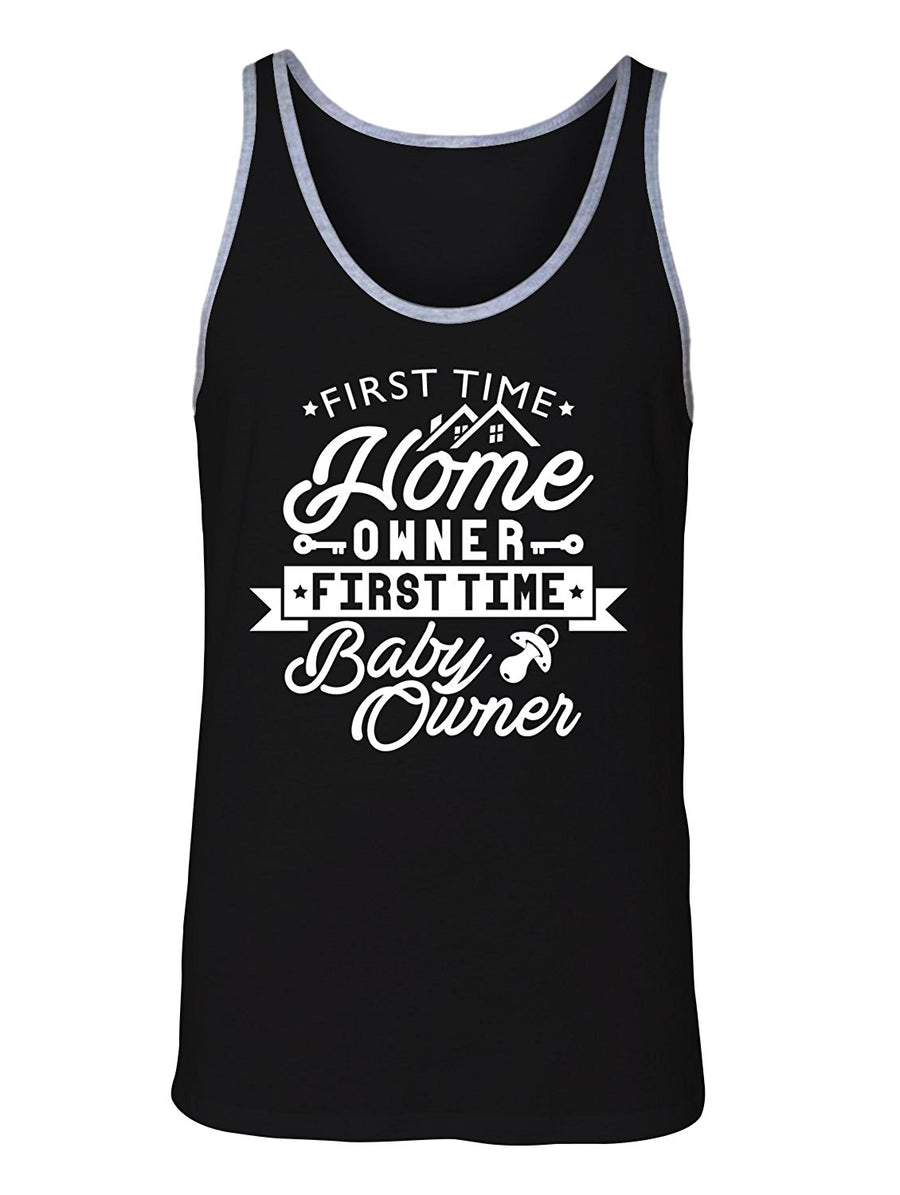 Manateez Men's First Time Home Owner First Time Baby Owner Tank Top