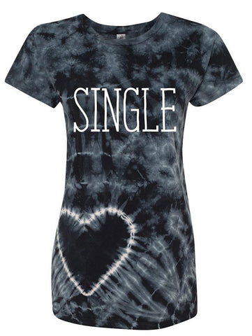 Manateez Women's Single on Valentine's Day Tie Dye Shirt