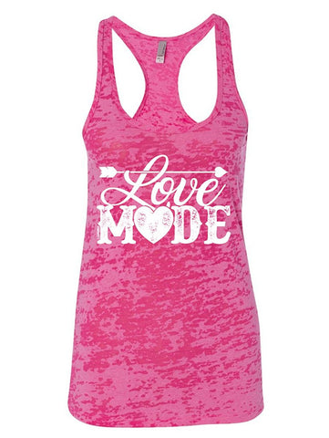 Manateez Women's Love Mode Lettering Valentine's Day Burnout