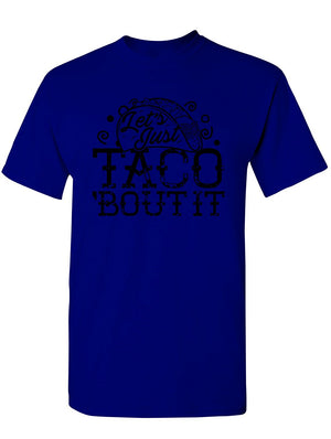 Manateez Men's Cinco de Mayo Let's Just Taco Bout It Tee Shirt