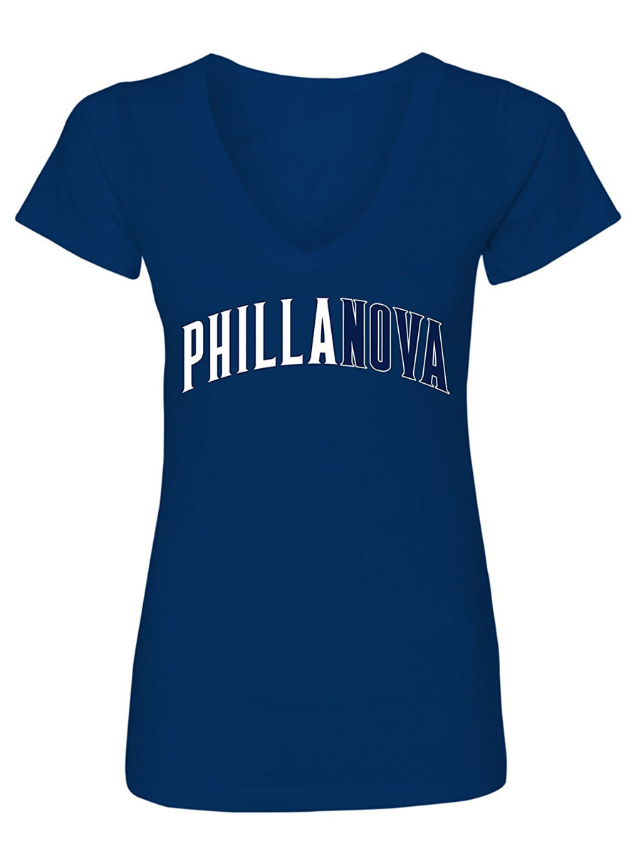 Manateez Women's Villanova National Champs Phillanova V-Neck Tee Shirt