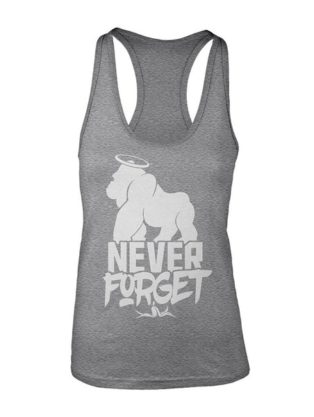 Manateez Women's Never Forget Harambe Racer Back Tank Top
