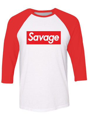 Manateez Men's Savage Skateboarding Raglan Tee Shirt