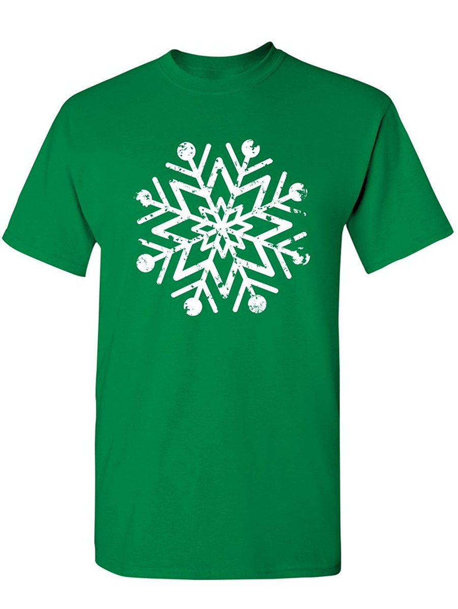 Manateez Men's Intricate Snowflake Design Tee Shirt