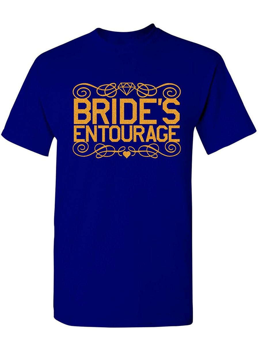 Manateez Men's Bride's Entourage Tee Shirt Small Royal
