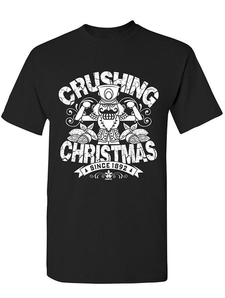 Manateez Men's The Nutcracker Crushing Christmas Tee Shirt