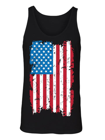 Manateez Men's USA Tattered American Flag Tank Top