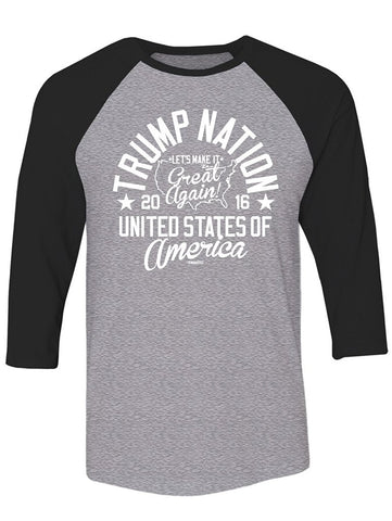 Manateez Trump Nation Raglan Tee Shirt
