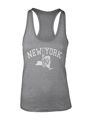 Manateez Women's New York Statue of Liberty Racer Back Tank Top