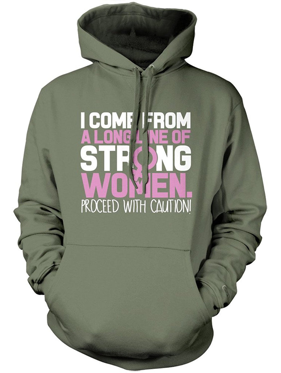 Manateez Mother's Day Strong Line of Women Family Hoodie