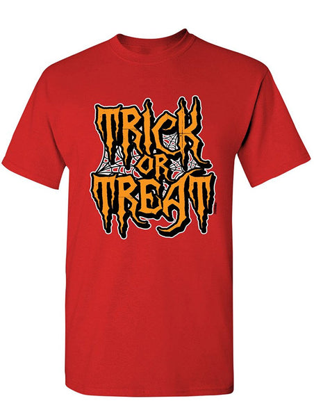 Manateez Men's Halloween Trick or Treat Spider Webs Tee Shirt