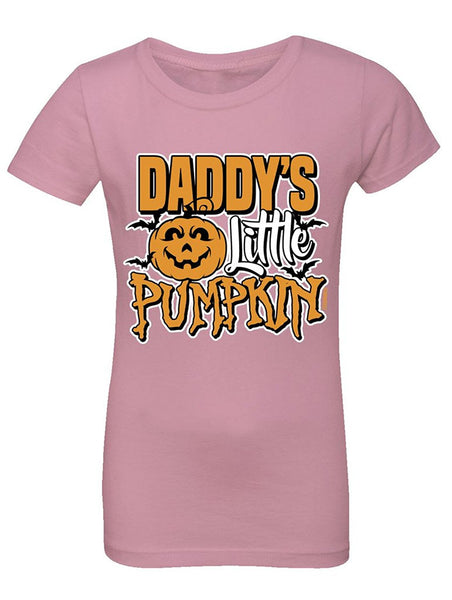 Manateez Girls Daddy's Little Pumpkin Tee Shirt