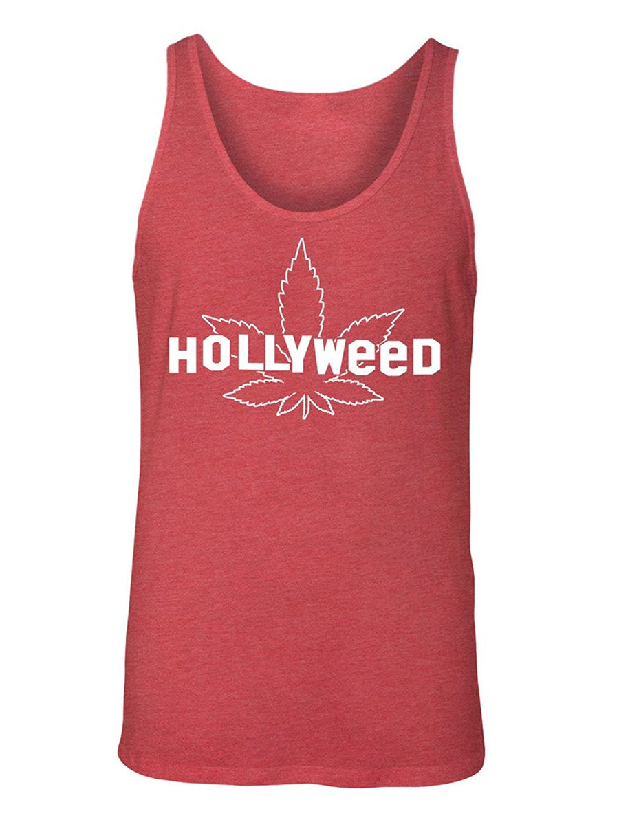Manateez Men's Hollyweed Hollywood Sign Tank Top